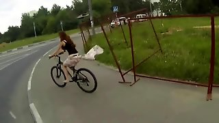 Skirt Pulled Off By Fence