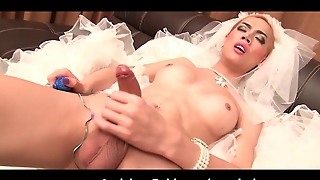 Ladyboy Jacky Wedding Day Wank