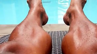 Muscle, Shaved Legs, Solo Male, Gay, Oink