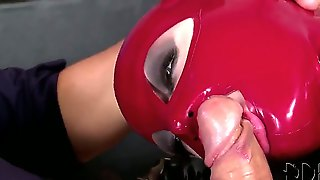 Now You Would See How Katia D Lys And Latex Lucy In Their Tight-Fitting Latex Suits And Latex Masks Are Relaxing With One Man. See Busty Girl In Red Latex Giving A Head At First.