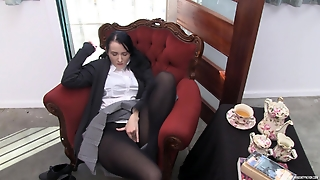 Youporn Female Director Series: Big Boob Geek Girl In Pantyhose Cums