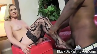 Stockings Feet Rub Black