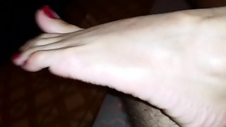 Indonesian Footjob