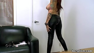 Toys, Big Tits, Tattoo, Red Head, Shaved Pussy, Hardcore, White, Big Ass, Redhead, Masturbation, Facial