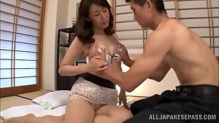 Japanese Mom Mako Morishita Gets Her Pussy Licked And Fucked Deep