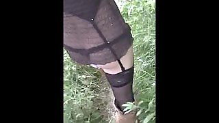 Flash Lingerie In A Public Park
