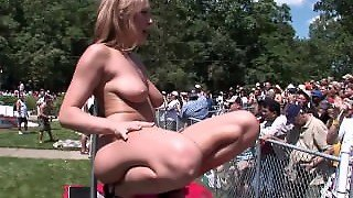 Teens, Highschool, Nervous, Gorgeous, Flashing, Young, Girlfriend, Public, Striptease, Outdoors, Outside