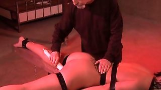 Bondage, Caucasian, Domination, Oral Sex, Spanking, Tattoos, Brunette, Couple, Toys, Fetish, Masturbation