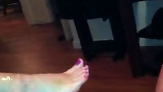 Gf Foot Job And Blow Job!