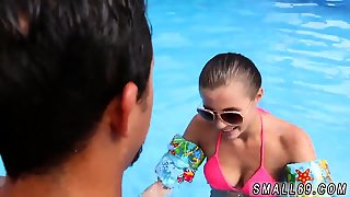 Cute Small Tits Petite Skinny Swimming In Semen