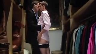Daddy Fucks Twink In The Closet.