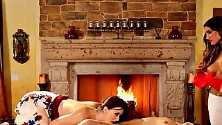 Hot Lesbian Threesome Massage