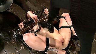 Bondage Pleasure For A Busty Redhead From Her Mistress