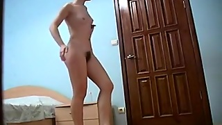 Cute Chick Stripping At Home