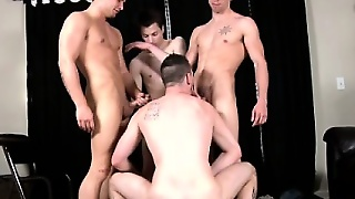 Orgy Loving Muscular Stud Pound One Dude