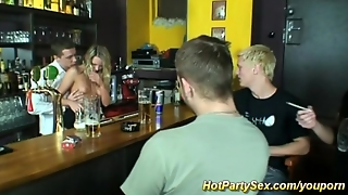 Young Cute Teen Loves Rough Gangbang