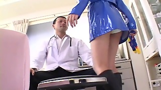 Japanese Latex Cop Sees The Doctor