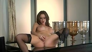 Emily Addison Plays With Her Toy