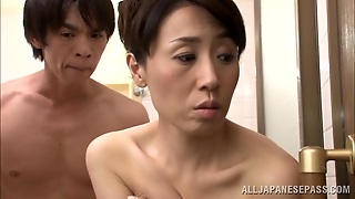 Japanese Milf Gets Washed By A Guy