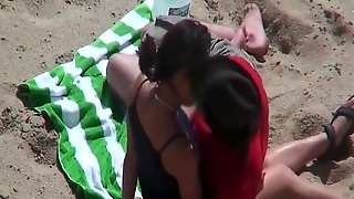 Beach, Hd, Kissing, Nipple Sucking, Voyeur