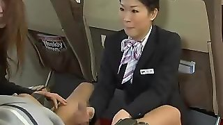 Japanese Stewardess Handjob Censored
