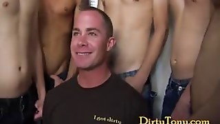 A Group Getting Their Dicks Sucked