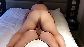 Sexy Curvy Bbw Chick Rides A Throbbing Veiny Dick Her Husband Gives Her