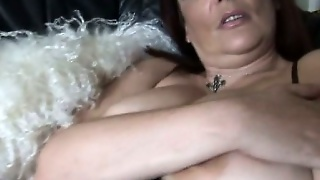 Big Tits Mature Curvy Babe Solo Striptease
