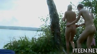 Horny Lakeside Pounding Of Sexy Blonde Beauty
