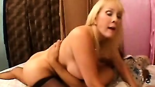 Busty Mature Milks A Fat Cock