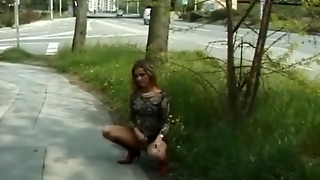 Squirting, Peeing, Piss, Extreme, Amateur, Yellow, Outdoor, Young, Public, Voyeur, Nature