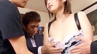 3Some With Asian Getting Tits Licked