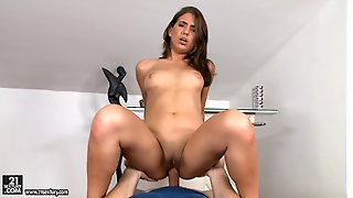 Cum Hungry Brunette Lily G Gets Railed
