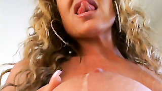 Natural Melons, Blond, Blonde, Solo, Solo Girl, Porn Star, Vibrator, Sexy Mom, Livingroom, Milf, Trimmed Pussy