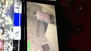 Speed Fuck Caught On Security Cam