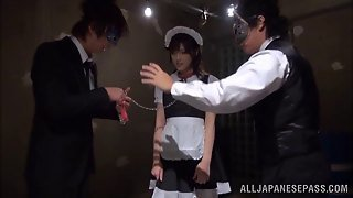 Maid Slave On A Leash Opens Her Mouth And Sucks Hard Cock