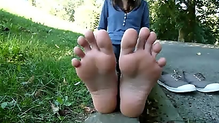 Cute Candid Feet Of A Student