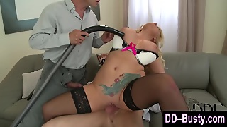 Real Busty Blonde Fucked