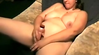 My Cute Large Gorgeous Woman Dark Brown Hair Wife And Her Marital-Device Marital-Device Play
