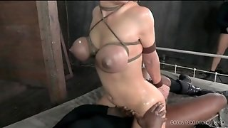 Big Tits Slut Tied Up And Fucked By Two Guys