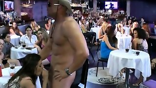 Babes Are Sucking Stripper\\'s One-Eyed Monster Hungrily