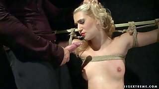 Linda Ray Is A Lovely Blond-Haired Slave Girl With Sexy