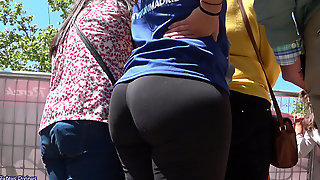 Big Ass Spanish Mom In Candid Footage
