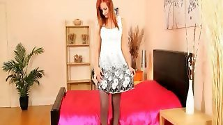Redhead With Small Schoolmate And Nylon