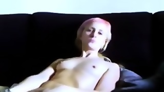 Blonde With Small Tits And A Toy