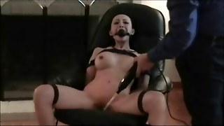 Bondage Woman Spanked In Butt