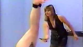 Bondage Dude Spanked By His Mistress