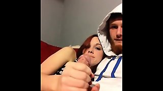 Amateur Hardcore Fucking And Blowjob Fun With Horny Redhead