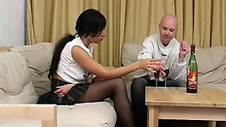 Sexy Brunette In Blowjob Doggystyle