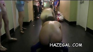 Gals Play With Strapons Public 11